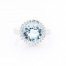 Серебряное кольцо Амадея с топазом и фианитами