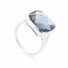 Серебряный перстень Альберта с завальцованным серым цирконием