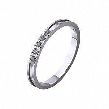 Золотое обручальное кольцо My sweet с фианитами