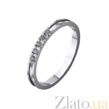 Золотое обручальное кольцо My sweet с фианитами TRF--4221132