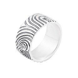 Серебряное кольцо Заир с чернением