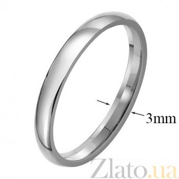 Обручальное кольцо из платины Классика, ширина 3 мм 09100100