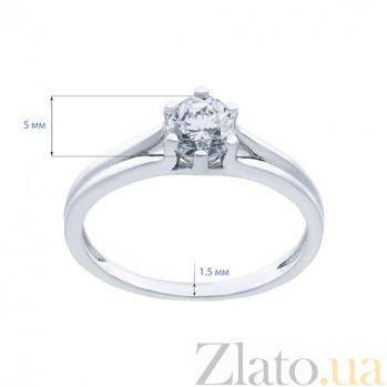 Кольцо серебряное с цирконом Возлюбленная AQA--XJT-0085-R1