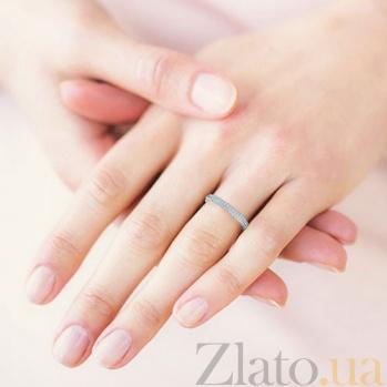 Обручальное кольцо из белого золота с бриллиантами Вершина моей мечты 93