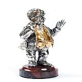 Серебряная статуэтка с позолотой Изя