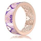 Обручальное кольцо из розового золота с эмалью и бриллиантами Талисман: Души