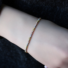 Серебряный браслет Орита в трёх цветах