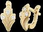Позолоченные серьги из серебра с фианитами Версаль SLX--С3Ф/009