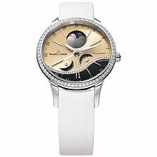 Часы Maurice Lacroix с белым ремешком коллекции Starside Eternal Moon