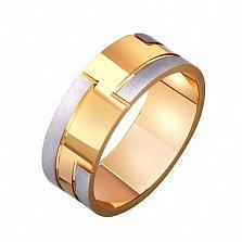 Золотое обручальное кольцо Счастье любить