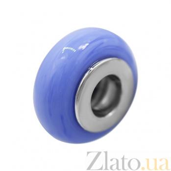Серебряный шарм Акварель с синим муранским стеклом 000081719