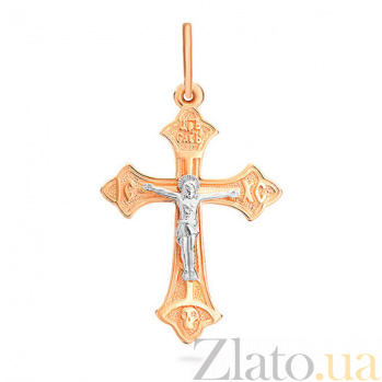 Золотой крестик Спаси и сохрани SUF--501592