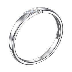 Серебряное кольцо с бриллиантами 000123336