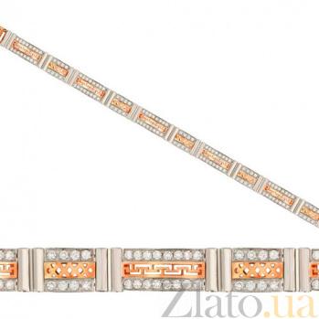 Золотой браслет Трофей с фианитами VLT--Е519