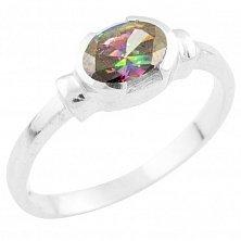 Серебряное кольцо Муза с топазом мистик