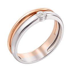 Кольцо в комбинированном золоте Шарман с бриллиантом
