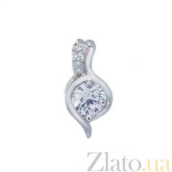 Кулон из серебра с цирконием AQA--XJT-0087-P