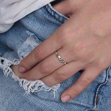 Кольцо из белого золота Me