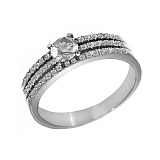 Кольцо из белого золота Беатриса с бриллиантами