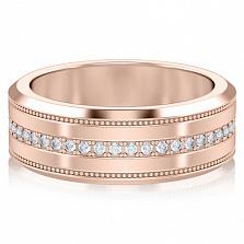 Обручальное кольцо из розового золота Тайна: Бесконечность