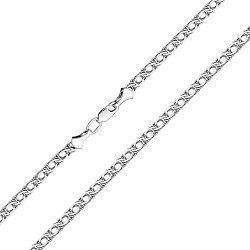 Серебряная цепочка в плетении бисмарк 000122257
