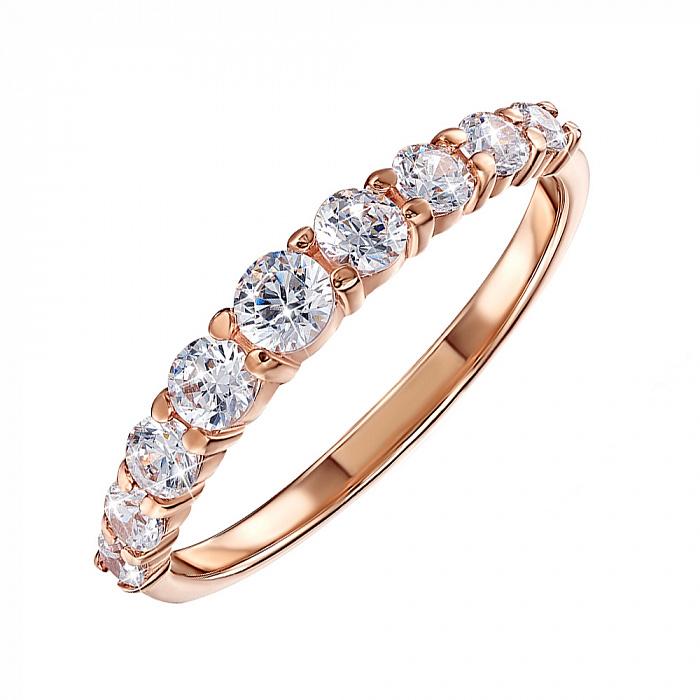 Золотое кольцо Селеста в красном цвете с кристаллами Swarovski 000122272