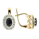 Серьги из красного золота с сапфирами и бриллиантами Габриэлла