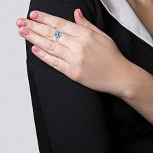 Серебряное кольцо Артемида с топазом