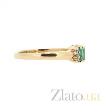 Золотое кольцо в красном цвете с изумрудами и бриллиантами  Хелена ZMX--RE-10353_K