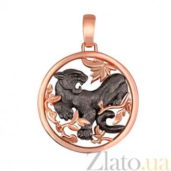 Подвеска Черная Пантера из красного золота VLT--А313-2
