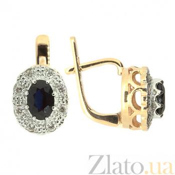 Серьги из красного золота с сапфирами и бриллиантами Габриэлла ZMX--ES-5503_K