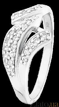 Серебряное кольцо с цирконием Мэйди 000025798
