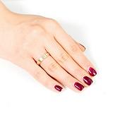 Обручальное кольцо в комбинированном золоте Нить