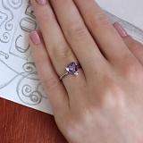 Серебряное кольцо Амати с фианитом