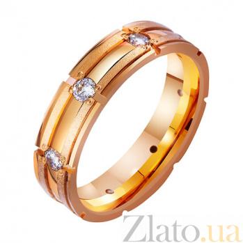 Золотое обручальное кольцо Обещание с фианитами TRF--4121247