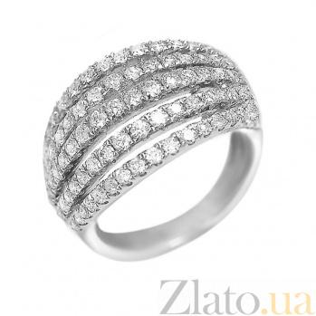 Кольцо из белого золота Шарлотта с бриллиантами 000081021