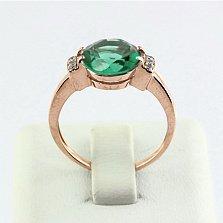Золотое кольцо Крейтер с синтезированным аметистом и фианитами