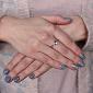 Золотое кольцо с бриллиантом Вилора PTL--1к123/21