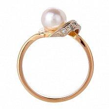 Золотое кольцо с жемчугом Лия