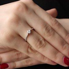 Золотое кольцо Возможность с бриллиантом