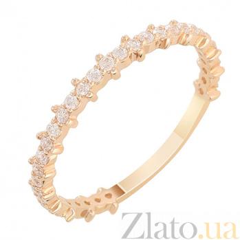 Кольцо из красного золота Белитта с фианитами 000022956