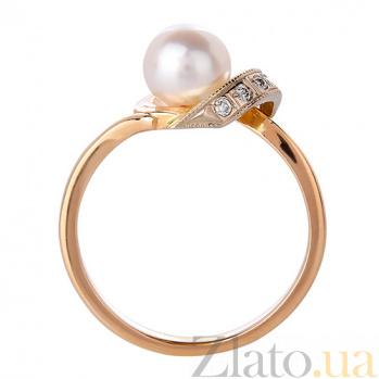 Золотое кольцо с жемчугом Лия 3522288