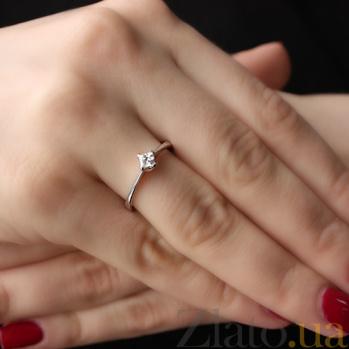 Золотое кольцо Возможность с бриллиантом 000045914