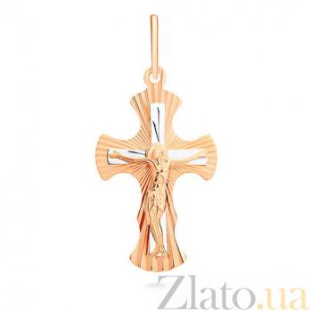 Золотой крестик Благодать SUF--529203