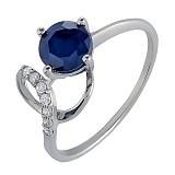 Серебряное кольцо с сапфиром Яна