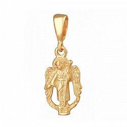 Серебряный подвес Светлый ангел с позолотой 000025235