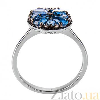 Кольцо в белом золоте Николетта с лондон топазом и бриллиантами SVA--1191001202/Топаз лондон