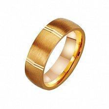 Золотое обручальное кольцо Мистика любви