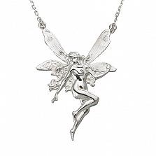 Серебряное колье Лесная фея