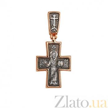 Крестик из красного золота Возрождение VLT--КЛ3003-1
